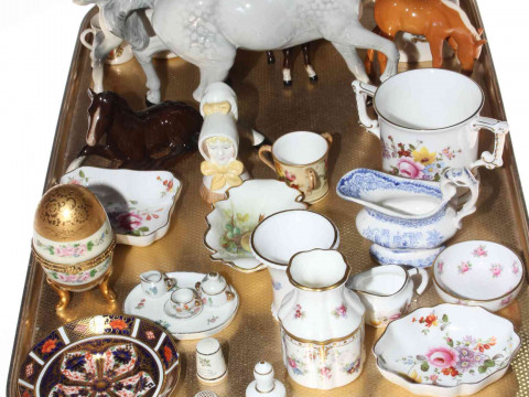Beswick horses and foals, Derby posies, mug, vases and dishes, Worcester...