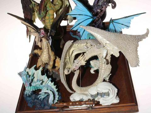 Six 'The New Beginning' dragon sculptures.