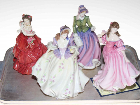 Four Royal Doulton ladies, Lauren, Sweet Lilac, Specially For You and...