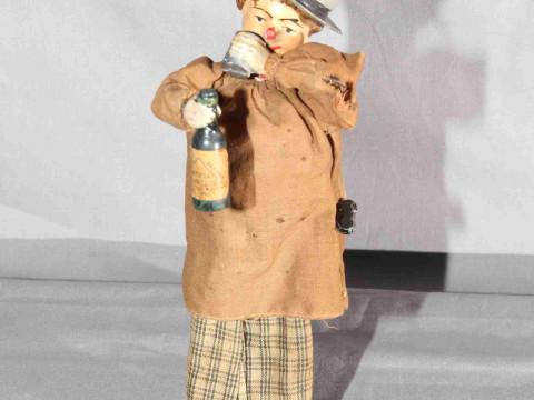 Ferdinand Martin Drunkard clockwork Figure.   Original paint and clothing....