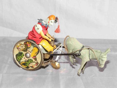 Lehmann Balky Mule clockwork toy.   Original paint and clothing.   Very...
