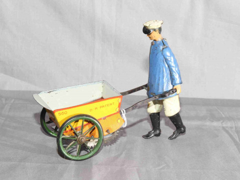 Lehmann Tap Tap clockwork toy.   Original paint with minor wear.   Very...