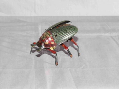 Lehmann clockwork Beetle.   Original paint.   Excellent clockwork motor...