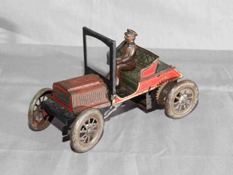 German tinplate clockwork 2 Seat Car.   Original paint with wear and minor...