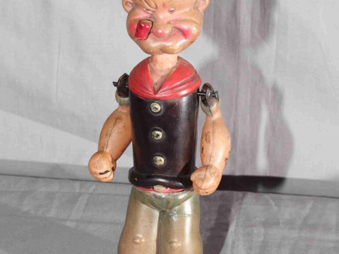Japanese King Features Syndicates clockwork Celluloid Popeye figure 8''...