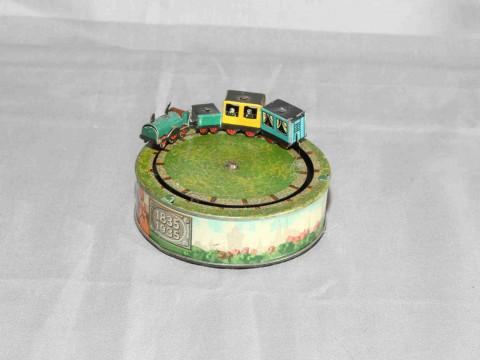 Carl Bub clockwork tinplate commemorative 1835 - 1935 Train toy.   Excellent...