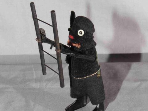 Schuco clockwork Mouse with Ladder.  Original clothes.  Excellent, clockwork...
