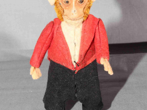 Clockwork Monkey Circus Ringmaster.  Original clothes.   Very Good, clockwork...