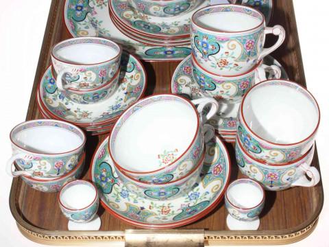 Twenty nine piece Mintons part table service painted No. B147.