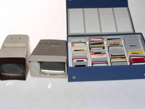 Large quantity of negatives, 8mm slides and glass slides depicting Topographical...