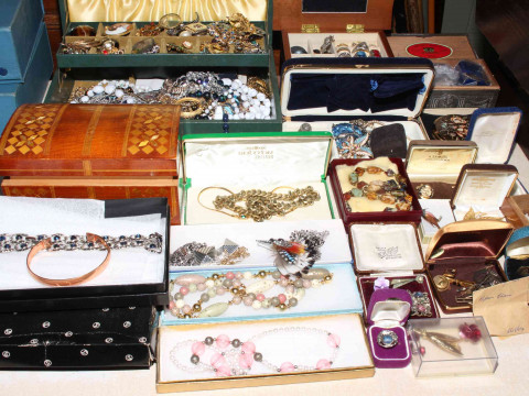 Large collection of costume jewellery.