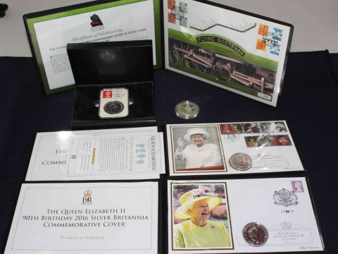Collection including 1oz silver Britannia coins inc 2016 by Date Stamp...