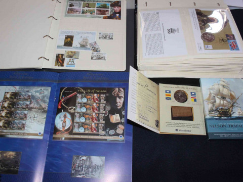 The Battle of Trafalgar Bicentenary coin presentation pack with oak and...