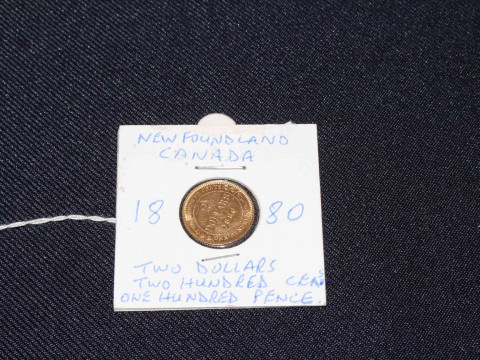 1880 Rare Newfoundland Canada Queen Victoria two dollars / two hundred...