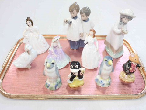 Figurines by Royal Doulton, Nao, Coalport, etc.