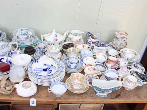 Collection of Victorian pottery and teawares, Oriental ware, etc. thumbnail